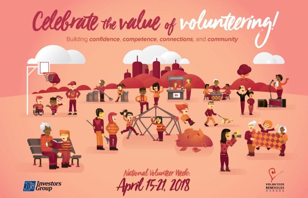 National Volunteer Week April 15-21, 2018